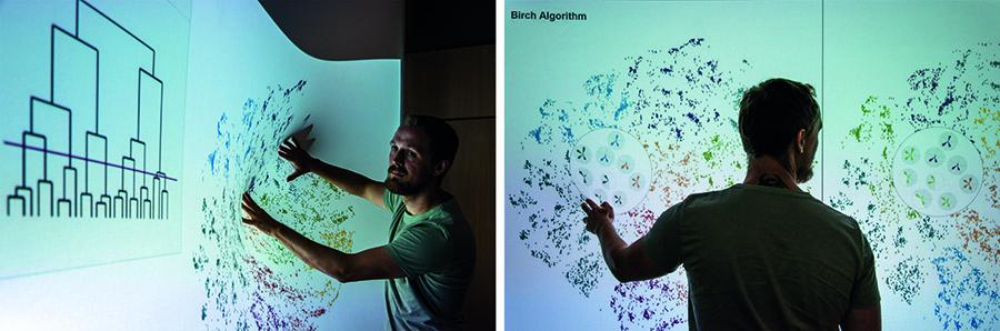 Exploring Big Data Landscapes with Elastic Displays