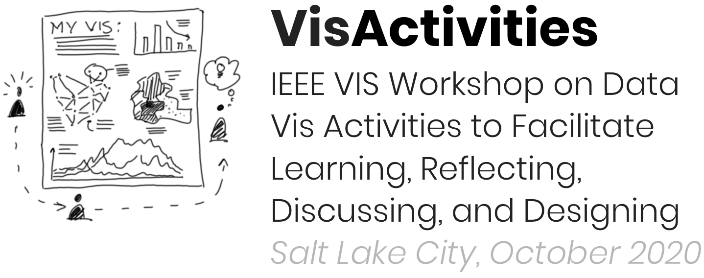 IEEE VIS Workshop on Data Vis Activities to Facilitate Learning, Reflecting, Discussing, and Designing
